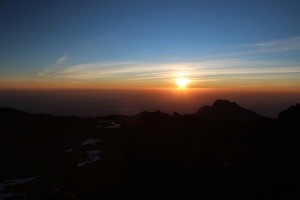 Sunrise On Top of Kili