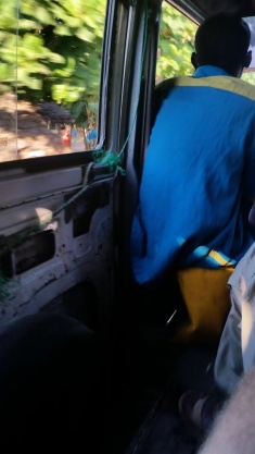 Sliding Door Roped Shut Plus Taxi Worker's 'Chair'