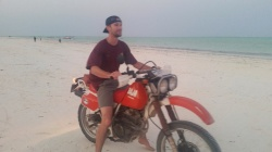Testing the Bike out on the Beach