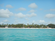 View of Paje from the Ocean