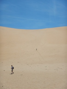 Trudging Away Up the Dune