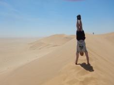 Jesse Rocking a Handstand