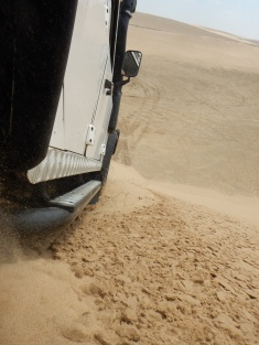 Sand all the way up to the Running Boards