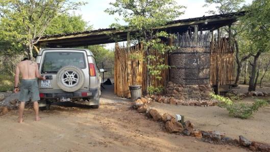 Fixing the Landy Door Latch. Outdoor Shower Inside the Brick Enclosure
