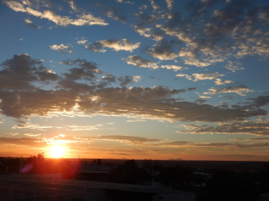 Sunset Outside the B&B in Keetmanshoop