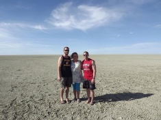 Me, Paddy, and Jesse. Etosha Pan