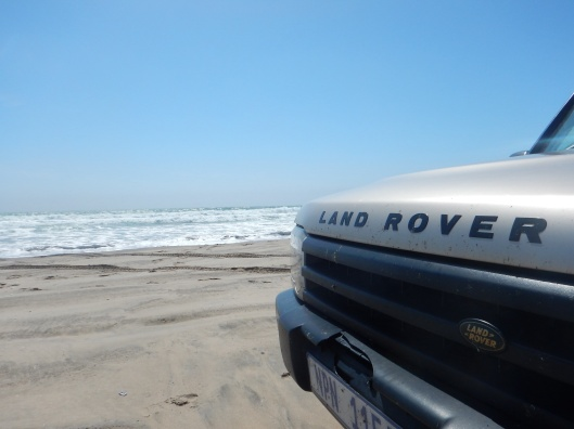 Land Rover Enjoying the Beach