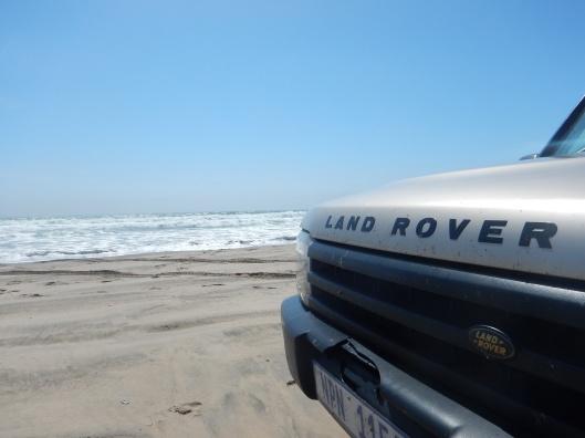 Land Rover Enjoying the Beach