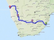Coast to Coast 2575km (1600mi)