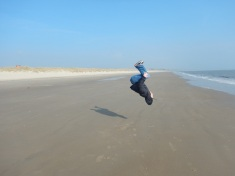 Back flipping where D-Day of Saving Private Ryan was Filmed
