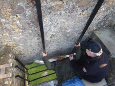 Alex Kissing the Blarney Stone
