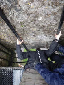 Kissing Blarney Stone!