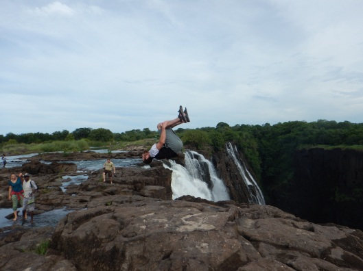 On Top of Victoria Falls....Literally