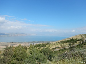 Overlooking the Sea of Galilee as We Headed into the Golan Heights