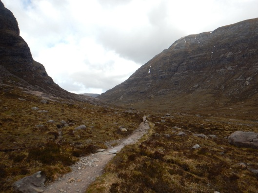 Beinn Eighe to the Right