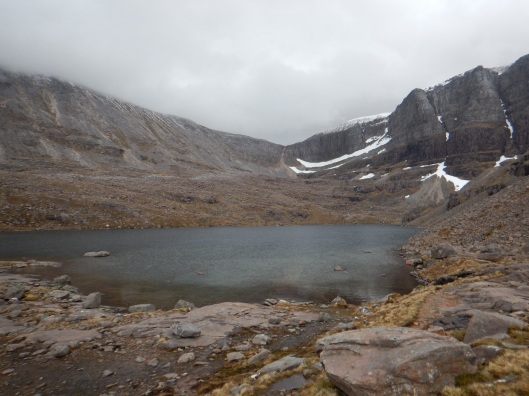 Lochan With A Snow Covered Rim