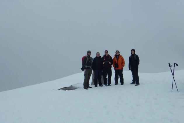 Summit! Me, Ian, Flo, Latticia, and Simone
