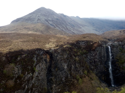 Waterfall with the Cuillen Hills Behind