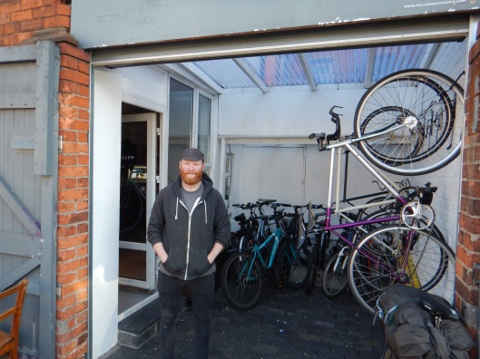 Andrew and Fellow Bicycles. It was a blast hanging out here!