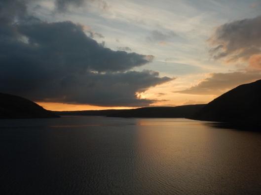 Sunset over Claerwen Reservoir