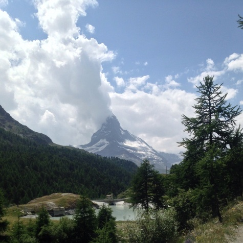 Turns out caught Lake Moosjisee at the base of the Matterhorn
