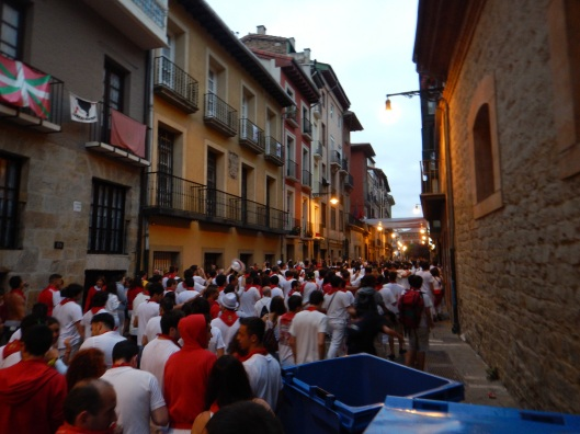 The streets of Pamplona