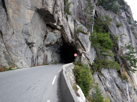 One of many tunnels