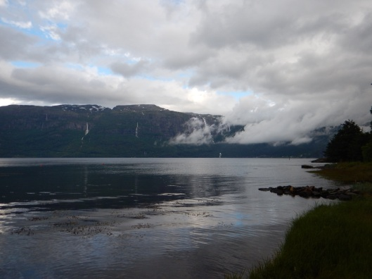 Some early morning clouds over the fjord