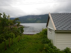 Yep the cabin sat right on the fjord. Great view to wake up to!