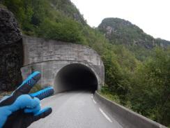 Through tunnels I ride!
