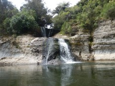 One of several waterfalls we passed