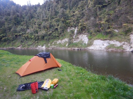 Camping on the edge above the river