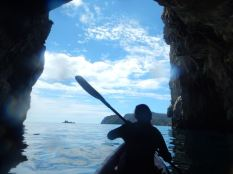 Just kayaking in Rikoriko Cave, the largest cave by volume in the world